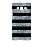 STRIPES2 BLACK MARBLE & ICE CRYSTALS Samsung Galaxy A5 Hardshell Case
