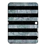 STRIPES2 BLACK MARBLE & ICE CRYSTALS Samsung Galaxy Tab 4 (10.1 ) Hardshell Case