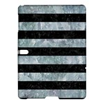 STRIPES2 BLACK MARBLE & ICE CRYSTALS Samsung Galaxy Tab S (10.5 ) Hardshell Case