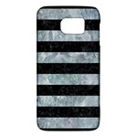 STRIPES2 BLACK MARBLE & ICE CRYSTALS Galaxy S6
