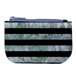 STRIPES2 BLACK MARBLE & ICE CRYSTALS Large Coin Purse