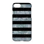 STRIPES2 BLACK MARBLE & ICE CRYSTALS Apple iPhone 7 Hardshell Case
