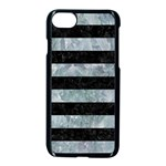 STRIPES2 BLACK MARBLE & ICE CRYSTALS Apple iPhone 7 Seamless Case (Black)