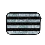 STRIPES2 BLACK MARBLE & ICE CRYSTALS Apple MacBook Pro 13  Zipper Case