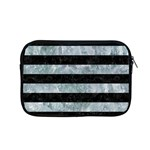STRIPES2 BLACK MARBLE & ICE CRYSTALS Apple MacBook Pro 15  Zipper Case