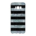 STRIPES2 BLACK MARBLE & ICE CRYSTALS Samsung Galaxy S8 Hardshell Case