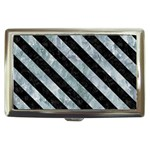 STRIPES3 BLACK MARBLE & ICE CRYSTALS Cigarette Money Cases