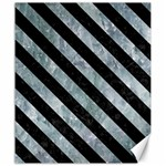 STRIPES3 BLACK MARBLE & ICE CRYSTALS Canvas 20  x 24