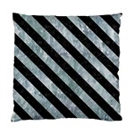 STRIPES3 BLACK MARBLE & ICE CRYSTALS Standard Cushion Case (One Side)