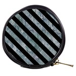 STRIPES3 BLACK MARBLE & ICE CRYSTALS Mini Makeup Bags