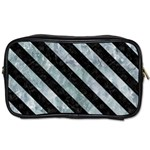 STRIPES3 BLACK MARBLE & ICE CRYSTALS Toiletries Bags