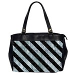 STRIPES3 BLACK MARBLE & ICE CRYSTALS Office Handbags (2 Sides)
