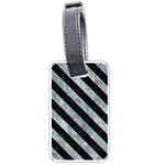 STRIPES3 BLACK MARBLE & ICE CRYSTALS Luggage Tags (One Side)