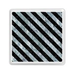 STRIPES3 BLACK MARBLE & ICE CRYSTALS Memory Card Reader (Square)