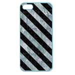 STRIPES3 BLACK MARBLE & ICE CRYSTALS Apple Seamless iPhone 5 Case (Color)