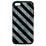 STRIPES3 BLACK MARBLE & ICE CRYSTALS Apple iPhone 5 Hardshell Case (PC+Silicone)