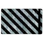 STRIPES3 BLACK MARBLE & ICE CRYSTALS Apple iPad 3/4 Flip Case