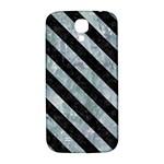 STRIPES3 BLACK MARBLE & ICE CRYSTALS Samsung Galaxy S4 I9500/I9505  Hardshell Back Case