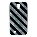 STRIPES3 BLACK MARBLE & ICE CRYSTALS Samsung Galaxy Mega 6.3  I9200 Hardshell Case