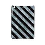STRIPES3 BLACK MARBLE & ICE CRYSTALS iPad Mini 2 Hardshell Cases