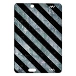 STRIPES3 BLACK MARBLE & ICE CRYSTALS Amazon Kindle Fire HD (2013) Hardshell Case