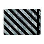 STRIPES3 BLACK MARBLE & ICE CRYSTALS iPad Mini 2 Flip Cases