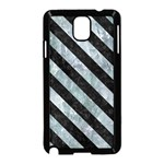 STRIPES3 BLACK MARBLE & ICE CRYSTALS Samsung Galaxy Note 3 Neo Hardshell Case (Black)