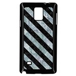 STRIPES3 BLACK MARBLE & ICE CRYSTALS Samsung Galaxy Note 4 Case (Black)
