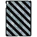 STRIPES3 BLACK MARBLE & ICE CRYSTALS Apple iPad Pro 9.7   Black Seamless Case