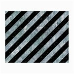 STRIPES3 BLACK MARBLE & ICE CRYSTALS (R) Small Glasses Cloth