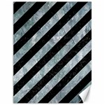 STRIPES3 BLACK MARBLE & ICE CRYSTALS (R) Canvas 12  x 16