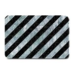 STRIPES3 BLACK MARBLE & ICE CRYSTALS (R) Plate Mats