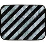 STRIPES3 BLACK MARBLE & ICE CRYSTALS (R) Fleece Blanket (Mini)