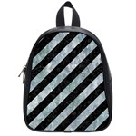 STRIPES3 BLACK MARBLE & ICE CRYSTALS (R) School Bag (Small)