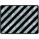 STRIPES3 BLACK MARBLE & ICE CRYSTALS (R) Fleece Blanket (Large)