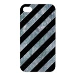STRIPES3 BLACK MARBLE & ICE CRYSTALS (R) Apple iPhone 4/4S Hardshell Case
