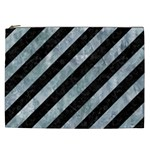 STRIPES3 BLACK MARBLE & ICE CRYSTALS (R) Cosmetic Bag (XXL)