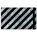 STRIPES3 BLACK MARBLE & ICE CRYSTALS (R) Apple iPad 2 Flip Case