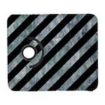 STRIPES3 BLACK MARBLE & ICE CRYSTALS (R) Galaxy S3 (Flip/Folio)