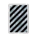 STRIPES3 BLACK MARBLE & ICE CRYSTALS (R) iPad Mini 2 Enamel Coated Cases
