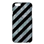 STRIPES3 BLACK MARBLE & ICE CRYSTALS (R) Apple iPhone 6 Plus/6S Plus Hardshell Case