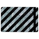 STRIPES3 BLACK MARBLE & ICE CRYSTALS (R) iPad Air 2 Flip
