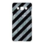 STRIPES3 BLACK MARBLE & ICE CRYSTALS (R) Samsung Galaxy A5 Hardshell Case