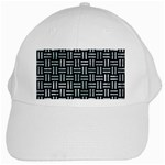 WOVEN1 BLACK MARBLE & ICE CRYSTALS (R) White Cap