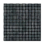 WOVEN1 BLACK MARBLE & ICE CRYSTALS (R) Tile Coasters