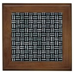 WOVEN1 BLACK MARBLE & ICE CRYSTALS (R) Framed Tiles