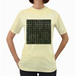 WOVEN1 BLACK MARBLE & ICE CRYSTALS (R) Women s Yellow T-Shirt
