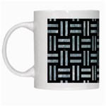 WOVEN1 BLACK MARBLE & ICE CRYSTALS (R) White Mugs