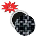 WOVEN1 BLACK MARBLE & ICE CRYSTALS (R) 1.75  Magnets (10 pack)