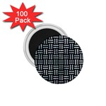 WOVEN1 BLACK MARBLE & ICE CRYSTALS (R) 1.75  Magnets (100 pack)